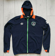 "Ireland ""L"" Umbro Stretch Hooded Jacket Track Hoody Shirt Jersey Top"