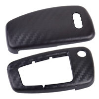 Carbon Fiber Remote Flip Key Cover Case Shell fit Audi A1 A3 A4 2000-2016