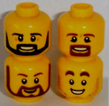 Lego version Têtes X 4 Jaune Double face tête ref c