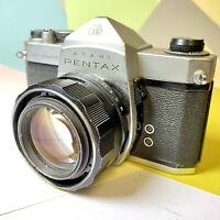 PENTAX Spotmatic SP 35mm Slr Film Camera W/ Super Takumar F1.4 50mm Lens Lomo!