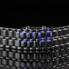 Futuristic Digital Space Style Unisex Wrist Watch Metal Link Strap Silver (W7)