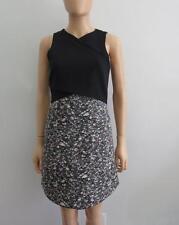 NWOT Proenza Schouler Black/Multi Abstract Sleeveless Dress, Sz 2