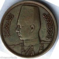 Egipto 10 Piastras 1939 Plata  @ BELLA @