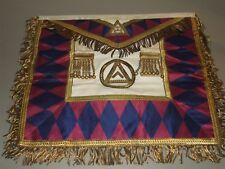 Antique Victorian Masonic Mason Knights Templar Fraternal Uniform Apron w/ Case