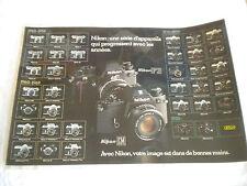 Vintage Camera shop counter mat Nikon cameras 1948-1980 all models french