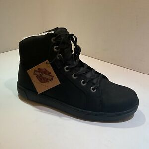 HARLEY-DAVIDSON FOOTWEAR Men's Watkins Leather Fashion Boot Black Size 8.5 M