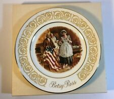 Vintage Avon Collectors Plate Betsy Ross 1973 Made by Enoch Wedgwood England