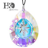 H&D Rainbow Crystal Suncatcher Chandelier Lamp Prism Hanging Pendant Daisy Decor