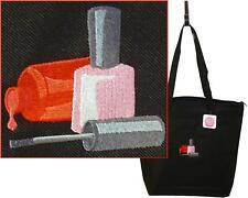 Nail Polish Monogram Bag Black Large Zip Tote Salon Tech Shop Beauty School Gift