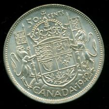 1942 King George VI, Silver Fifty Cent Piece,    I21