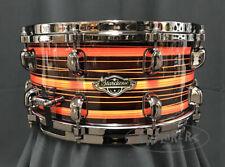 Tama Snare Drum Ltd Ed Starclassic 6.5x14 Walnut/Birch Shell- Neon Orange Oyster