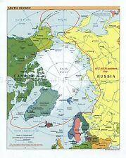Carte politique CIA 2001 région arctique historique grand imprimé Poster réplique pam1419