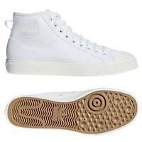adidas ORIGINALS NIZZA RF HI TRAINERS WHITE SKATEBOARDING SNEAKERS SHOES CANVAS
