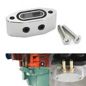 Oil Pressure Port Adaptor Adapter Dual 1/8 NPT For Chevrolet LS LS1 LSX LS3 GMC