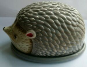 Ceramic Hedgehog Butter Dish