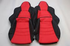 Custom Made Honda S2000 AP2 Real Leather Seat Covers Black/Red