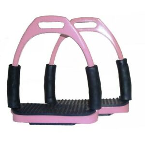 Brand New Four Way Flexi Bendy Offset Eye Stirrup Pairs Iron stainless steel.PNK