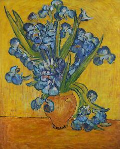 After Vincent Van Gogh - 20th Century Oil, Irises