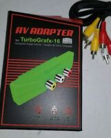 NEW AV Adapter Converter with Cables Using Expansion Port for NEC Turbo Grafx Q1