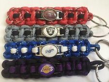 Paracord Keychains With Sports Logo Charms