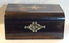 Coromandel wood vintage Victorian antique ladies writing slope box