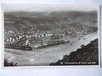 Ansichtskarte Oberlahnstein am Rhein und Lahn Lahnstein Luftbild