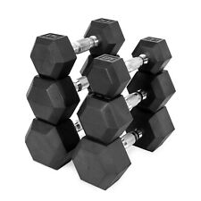 Cap rubber coated hex dumbbells CHOOSE YOUR WEIGHT 10lb 15lb 20lb 25lb 30lb