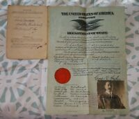 ANTIQUE USA PASSPORT CHARLES DOESSMANN GERMANY 1919 1922