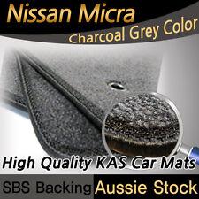 Fits NISSAN MICRA K12 2007 - 2010 CAR FLOOR Tailored CARPET MATS - DARK CHARCOAL