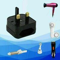 Hot* EU 2 Pin to UK 3 Pin Plug Adapter Power Socket Travel-Converter Y0I6 S I0G7