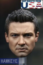 1/6 Jeremy Renner Hawkeye Head Sculpt 3.0 For Avengers HotToys Phicen Figure USA