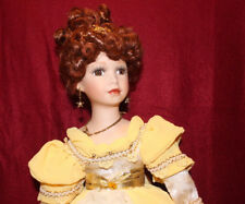 """Beautiful Victorian Dress For 17"""" Doll+FREE Beautiful Brown Eyes Porcelain Doll."""