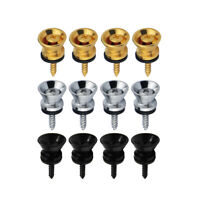 12pcs Guitar Strap Lock Buttons End Pins Pegs Screw for Guitar Bass Ukulele