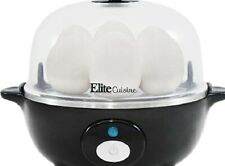 Simple electric egg cooker with automatic shut-off and buzzer, can hold 7 eggs