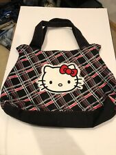 "hello kitty purse handbag 18""w X 15""l Black/red 1zip Pocket Magnet Closure"