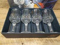 4 Longchamp Water Goblets Cristal D'Arques Durand Crystal 7 1/4""