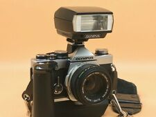 Olympus OM-2n MD Film SLR Camera With Motor Winder And T20 Flash