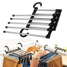 Trousers Pants Jeans Scarf Clothes Hanger Double Hook Rack Organizer New