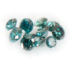 0.20Ct Natural Blue Loose Diamond Sparkling Round Shape Lot With Certificate