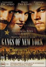 GANGS of NEW YORK Leonardo DiCAPRIO Daniel DAY-LEWIS Cameron DIAZ DVD NEW Reg 4