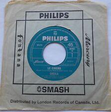 SHEILA Le cinema / Je t'aime CANADA 1966 FRENCH 45 PHILIPS Vinyle