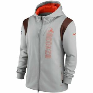 New 2021 NFL Cleveland Browns Nike Sideline Team Performance Full-Zip Hoodie NWT