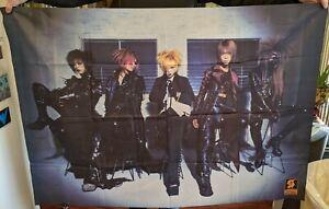 Dir en Grey Autographed Macabre Tour Cloth Poster Kaoru Shinya signed