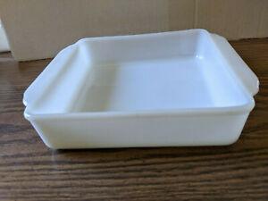 "Vintage Fire King White 8-1/2"" Square Baking Dish"