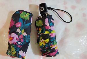 VERA BRADLEY Mini Automatic Umbrella HILO MEADOW Travel Colorful Flowers