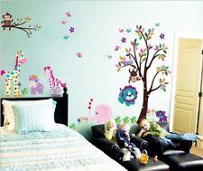 Jungle animal  Vinyl Wall Decal Sticker Art Mural Nursery baby kids room decor