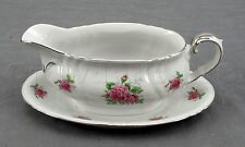 Winterling Bavaria #7 Porcelain China Rose Flower Gravy Boat - Made in Germany