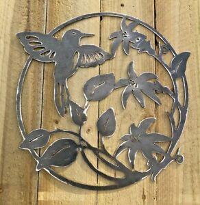 Humming Bird Metal Sign Wall Art CNC Sign Shed Decor Metal Plague