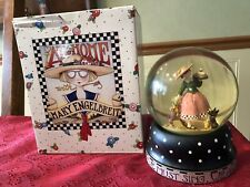 Mary Engelbreit Snowglobe 1997 Girl With Cake Michel & Co With Box 5 1/4� Tall