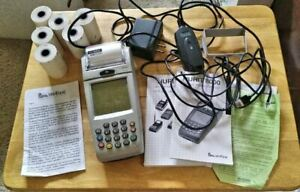 Nurit Verifone 8000 (8010S) with Charger External Modem Manuals Thermal Paper